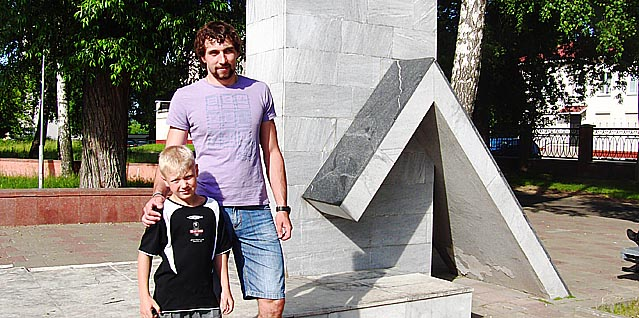 Александр Китаров (на фото с племянником)