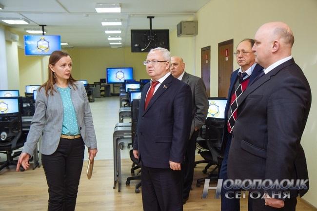 Председатель Витебского областного Совета депутатов Владимир Терентьев совершил рабочую поездку в Новополоцк