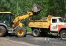 Работники спецавтобазы обновили парк культуры и отдыха Новополоцка