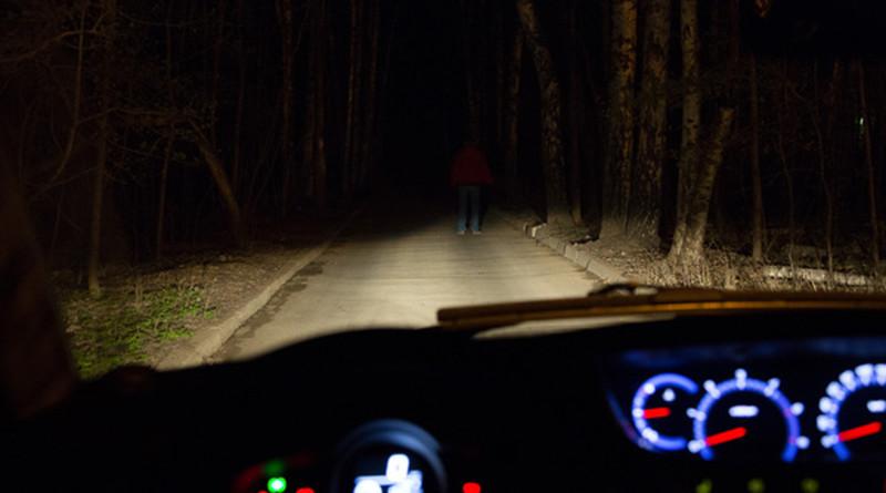 пешеход в темноте