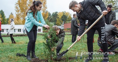 В Новополоцке заложили Аллею молодежи (+видео)