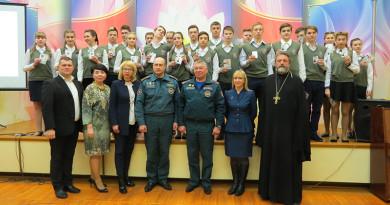 В ГУО «Средняя школа №11 г. Новополоцка» прошло торжественное посвящение  учащихся 10 «А»  класса в члены пожарно-спасательного отряда