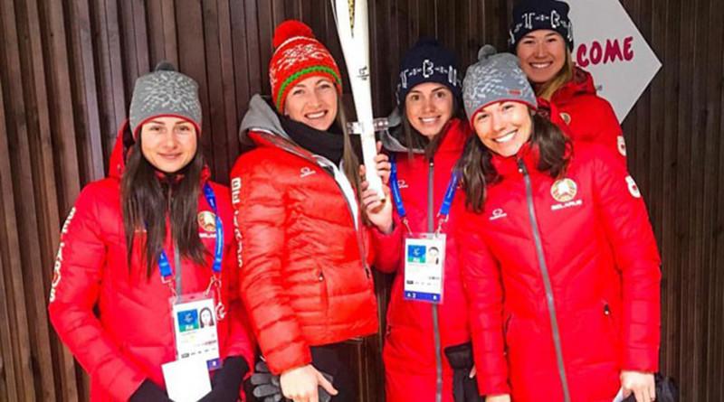 белорусские биатлонистки в Пхёнчхане