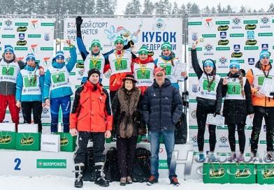 Команда Витебской области стала победителем Кубка Белорусской федерации биатлона