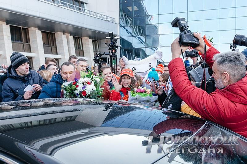 Vstrecha olimpijskih chempionok po biatlonu v Nacional'nom ajeroportu (4)