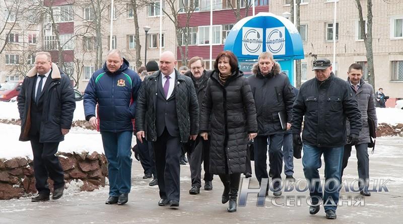 Наталья Кочанова посетила Новополоцк. Обсуждены вопросы развития новополоцкого хоккея