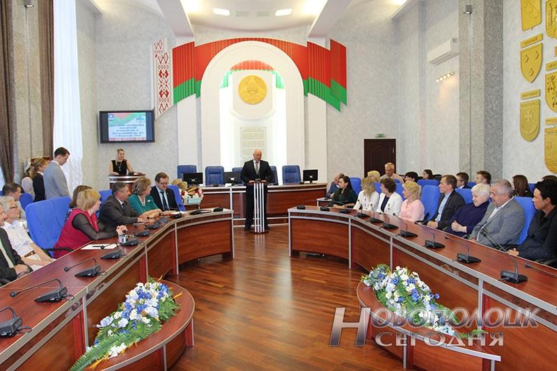 Krivko i Sahonenko v Novopolockom gorispolkome (11)