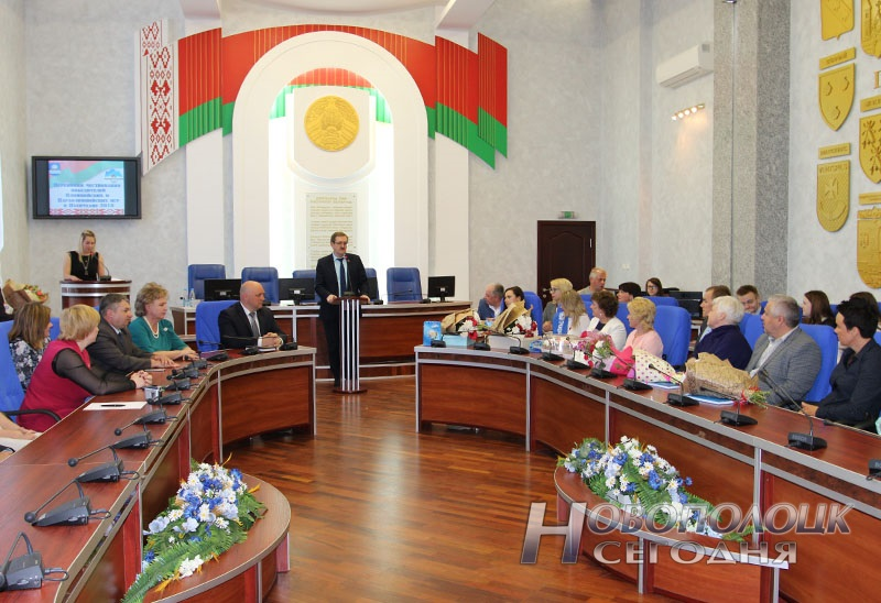 Krivko i Sahonenko v Novopolockom gorispolkome (14)