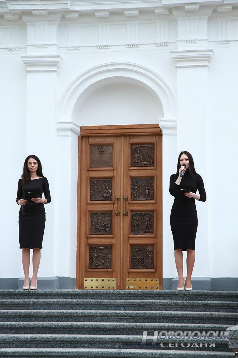 Otkrytie «Rektorskogo vhoda» v Polockom kollegiume (6)