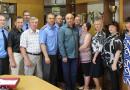 В Новополоцком отделе Департамента охраны с юбилеем поздравили ветерана службы – Владимира Петрова