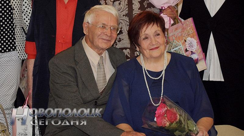 Супруги Рогаткины на регистрации юбилейного супружеского торжества
