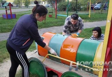 Работники УЗ «НЦГБ» присоединились к городской акции «Дворы для детворы»