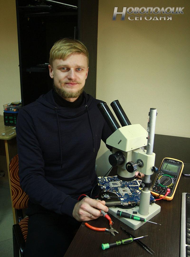 Василий Пивоваров, ремонт мобильной техники в Новополоцке