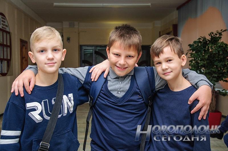Участники турнира из СШ 12 Дима Бакан, Никита Кахович и Никита Богданович