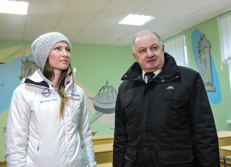 Валерий Гущин и Дарья Домрачева