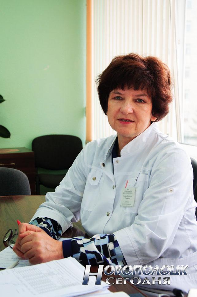 Заведующая детской поликлиникой УЗ «Новополоцкая центральная городская больница»  Тамара Таратута
