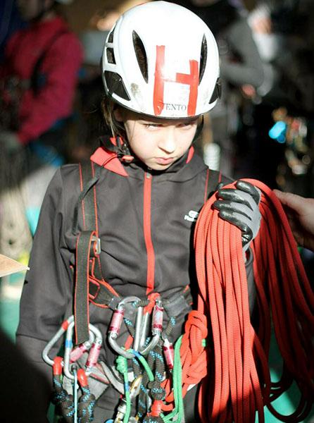 Одна из самых юных  участниц новополоцкой команды Ксения Гайкович