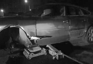 В Новополоцке пьяная девушка на угнанной иномарке повредила 7 автомобилей