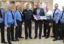 В Новополоцком отделе охраны поздравили с юбилеем Петра Червоного — ветерана отдела охраны