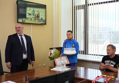 Золото Новополоцка: город поздравляет Геннадия Лаптева