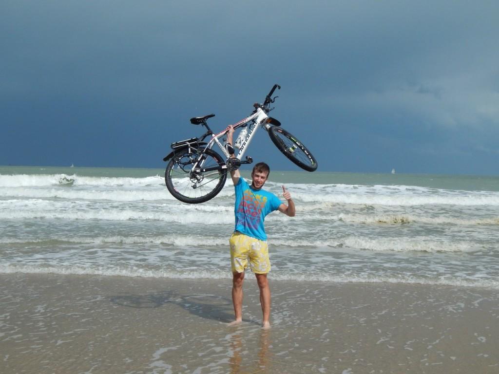 На пляже Северного моря, г. Остенде, Бельгия