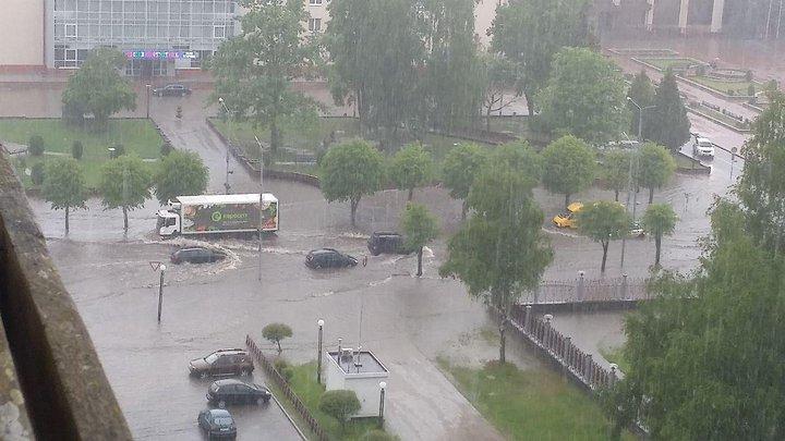 Новополцок ливень потоп