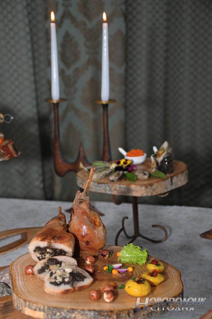 Часть кулинарной композиции мастера-повара Елены Стиши