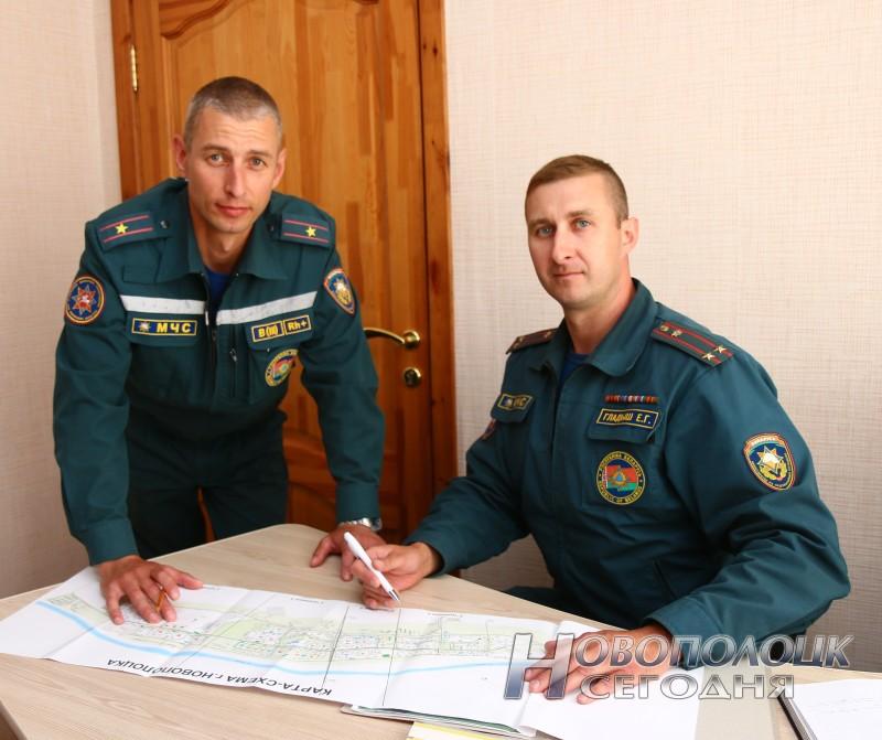 Старший помощник начальника штаба Алексей Морозов и Евгений Гладыш