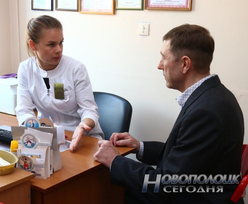Алексей Шавкело на приеме у врача-инфекциониста поликлиники №4 Екатерины Князюк