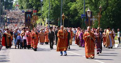 Крестный ход в Полоцке. Свято-Евфросиниевские торжества 5 июня 2019 года