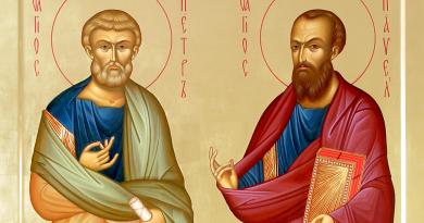 Праздник в честь первоверховных апостолов Петра и Павла