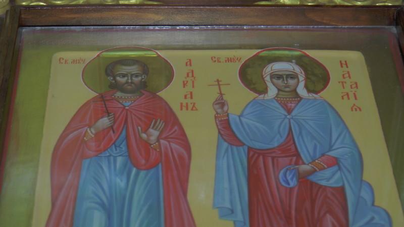 Икона мчиников Адриана и Натальи
