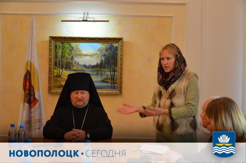 Пресс-секретарь Полоцкой епархии Наталья Полянская представила епископа Игнатия журналистам