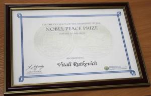 Как вклад новополочанина в укрепление мира подтвердил Нобелевский комитет