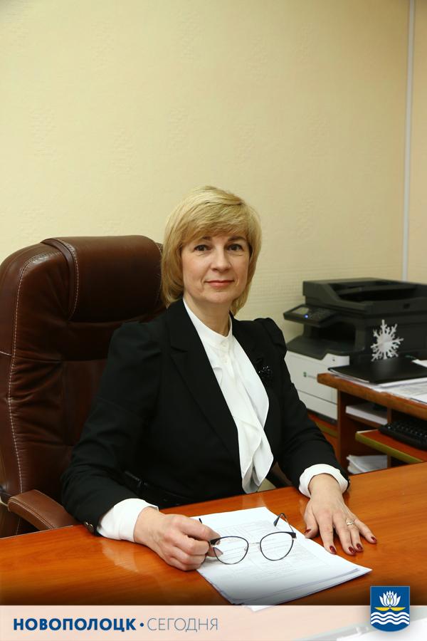 Начальник финансового отдела Новополоцкого горисполкома Светлана Дегтярёва
