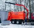 ВНовополоцке на обслуживание заглубленных контейнеров вышел мусоровоз КО-4276 сманипулятором– один-единственный вреспублике