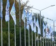 На улице Калинина на флагштоках разместили флаги с логотипами новополоцких предприятий. Фотофакт