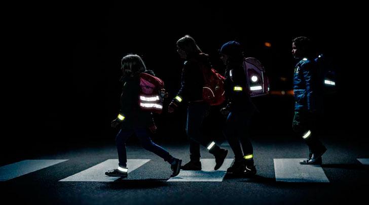 Пешеходы с фликерами