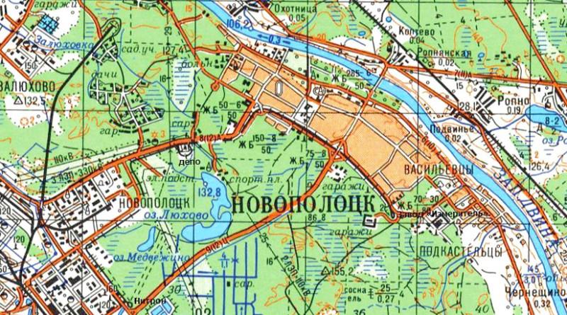 Карта Новополоцка