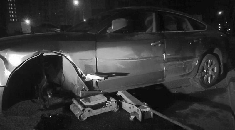 разбитое авто