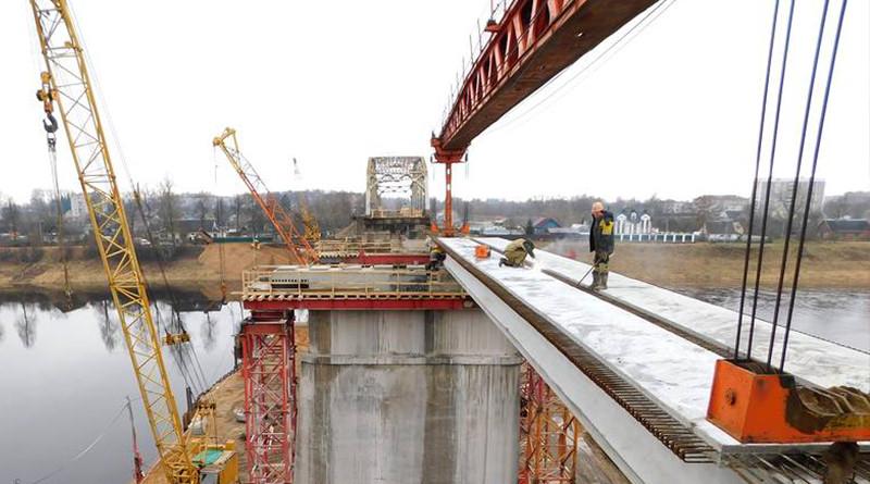 Строительство моста в Полоцке