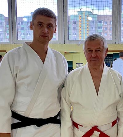 Владимир Панкратьев с учеником Артуром Фандо