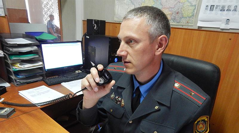 Г.Барташевич во время дежурства