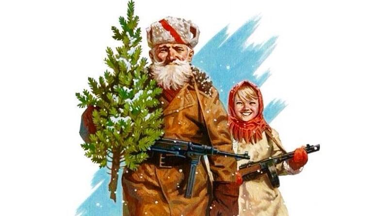 Новый год_фронтовая открытка