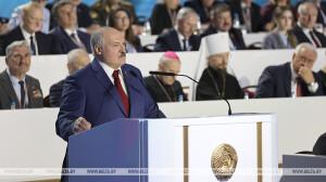 Лукашенко: форум показал высокий запрос общества на сохранение системы ценностей и приоритетов