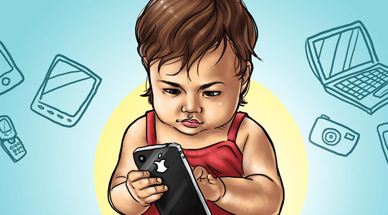 Мобильный и ребенок