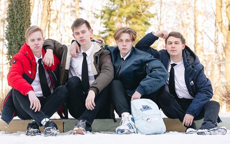 Камаев Олег, Гайкович Дмитрий, Бадюков Егор,Качанов Николай (Справа налево)