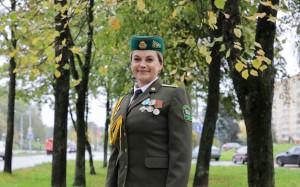 Ко дню образования Полоцкого пограничного отряда: Елена Рудько о том, как поняла, что ее судьба - это служба